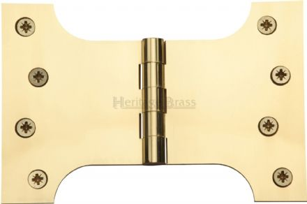"M Marcus Heritage Brass HG99-395-PB  Brass Parliament Hinge  4"" X 4"" X 6"" Polished Brass"